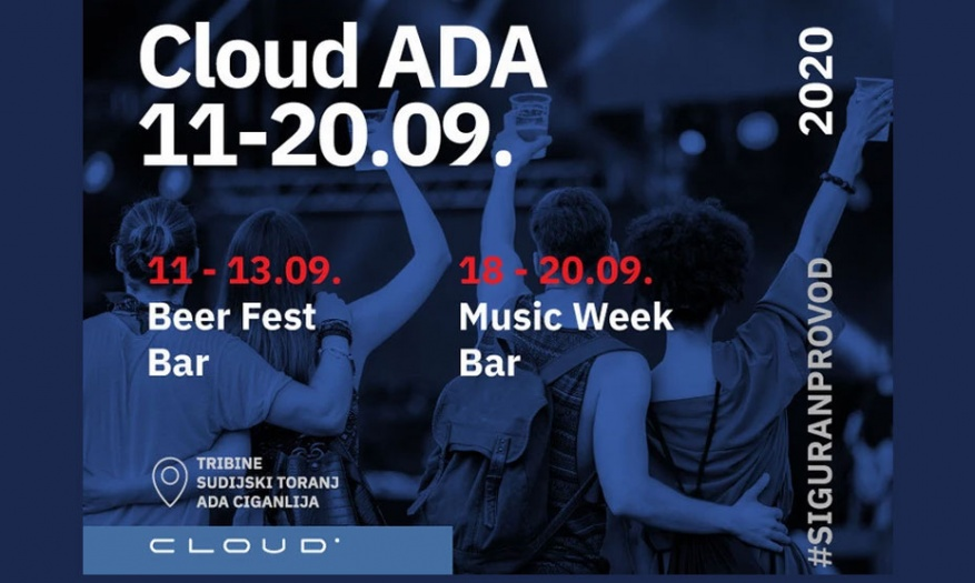 Cloud Ada Event during the Next two Weekends in Ada Ciganlija